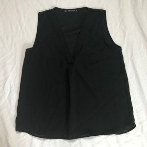 Zara Black basic sleeveless v neck Tank top